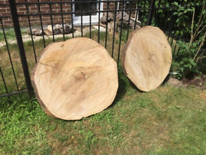 Live edge slabs and rounds for tables