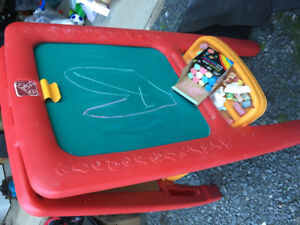 Step Two toy easel and Chaulk board