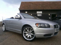 06 VOLVO C70 2.5T5 SE LUX AUTOMATIC 2DR CONVERTIBLE 75K FSH SILVER/BLACK LEATHER