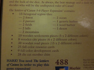 The Settlers of Catan 5-6 Player Expansion 3rd Edition Kingston Kingston Area image 3