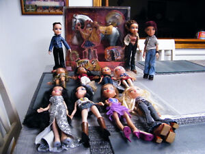 LOT OF BRATZ DOLLS AND HORSE LOT OF 12