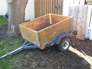 4 ft X 4ft Steel frame / Wood utility trailer