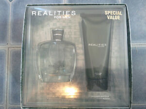 Realities for Men 100ml colone and 200ml After Shave Soother $25