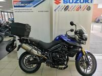 TRIUMPH TIGER 800 ABS WITH ARROW RACE CAN, HEATED GRIPS, ALLOY TOP BOX AND FOGS