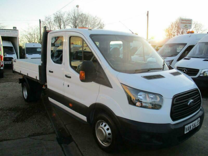 46701908ed 2017 17 reg FORD TRANSIT CREW CAB TIPPER DOUBLE CAB TWIN WHEEL 130PS EURO 6