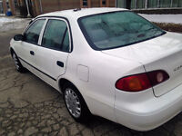 2002 Toyota Corolla Low Km's 132000 km's only $2495 Moving Sale