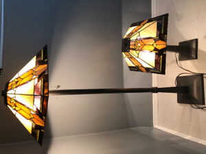 Like-new stain glass style lamps - purchased at The Brick
