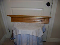 Cherry wood plate rail shelf