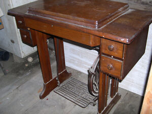 Theadle Sewing machine plus wood furniture