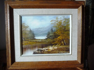 """Original Oil Painting by Phillip Cantrell """"Slow River Afternoon"""" Stratford Kitchener Area image 1"""