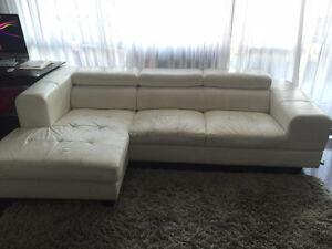 Sofa canape cuir blanc white leather - Livraison