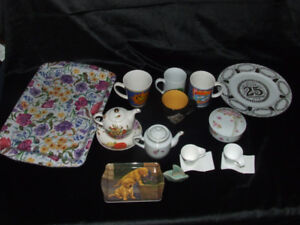 Chinaware and plastic trays