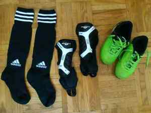 Excellent Kids Adidas Soccer Cleats Shoes, Shin Guards, Socks