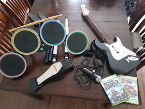 XBOX 360 Rock Band 2- Full Kit + Games in Perth, ON