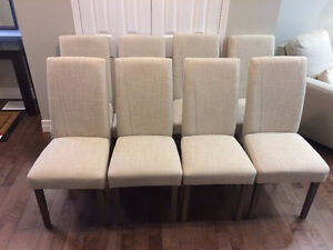 Beige Dining Chairs - $100 each - Set of 8