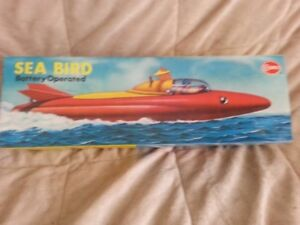 Sea Bird battery operated space age boat,by Cosmo,CIB