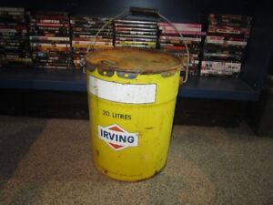 20 Liter IRVING OIL Can For Sale
