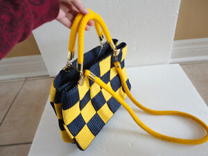 Brand new with tags women's yellow/blue colour block purse London Ontario image 3