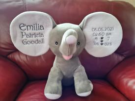 Personalised Embroidered Dumble Elephant
