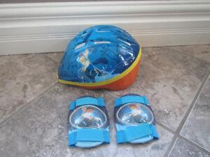 Diego bike helmet and knee pads