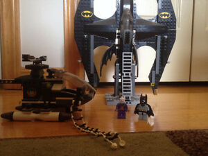 ORIGINAL Lego Batman Bat-Jet and Joker Helicopter
