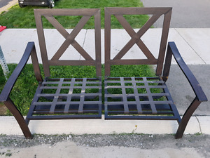 Patio table, love seat and chairs