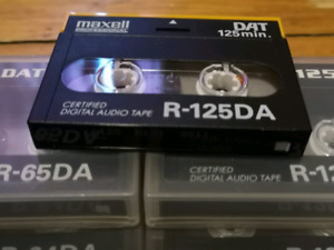 10 cassettes DAT Tapes - New and Used