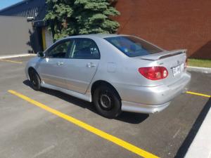 Corolla s 2005 automatique de base a vendre