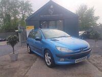 Peugeot 206 1.4 LX AC (blue) 2003