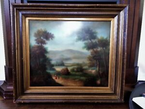 Antique Oil on Canvas Framed Painting by Bartolo