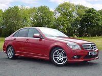 Mercedes-Benz C CLASS 2.1 C200 CDI Sport 4dr (red) 2008
