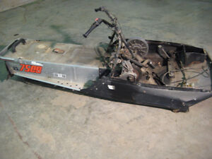 VINTAGE SKIDOO BLIZZARD ROLLING CHASSIS