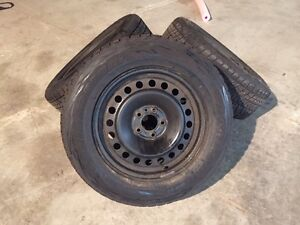 4 winter tires with rims (one season on them)