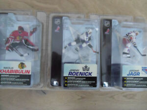 "2005 & 2006-McFarlanes-SportsPicks 3"" Series Hockey Figures."