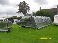 Outwell Montana 6P + extension, carpet and footprint, Excellent condition