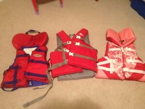 2 Youth & 1 Adult Life Jacket for sale