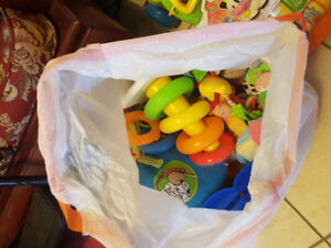 FREE bag of assorted toys for newborn to 12 months