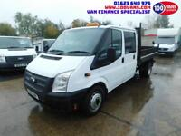 FORD TRANSIT 2.2TDCI 100PS LWB T350 DOUBLE CAB TIPPER WITH LOW MILES