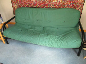"1 x metal, fold-out futon/couch (78"") for sale"
