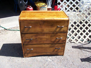 Antique Solid Wood 3 Drawer Dresser  32 by 16 and 33 Tall