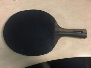 carbon fibler table tennis racket with 3 good rubber