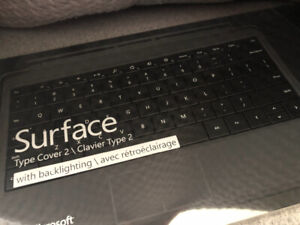 Microsoft Surface Type Cover 2 w/ backlighting / clavier type 2