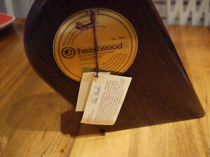 Hand made wood clock Heartwood slanted London Ontario image 2