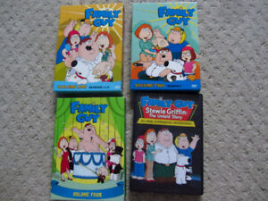 Family Guy on DVD - Volumes 1 Thru 4 and Stewie Griffin
