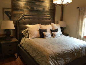 King Size Bed - Rustic Mountain Styling