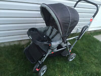 black and white joovy sit n stand double stroller