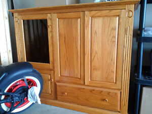 Solid Oak TV display cabinet! MUST GO - MOVING