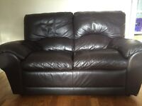 2+3 settee brown leather