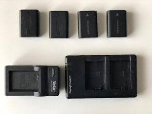 Sony NP-FW50 Batteries (Original included) + CHARGERS