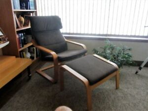 Ikea Chair & Footstool